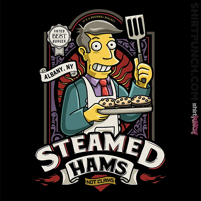 ShirtPunch: Patented Skinner Burgers