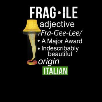BustedTees: Funny Christmas Fragile Major Award Leg Lamp Shirt