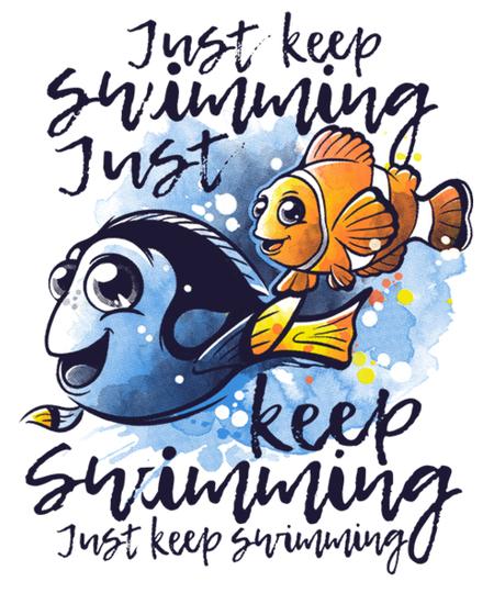 Qwertee: Just keep swimming
