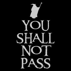 Pop-Up Tee: You Shall Not Pass