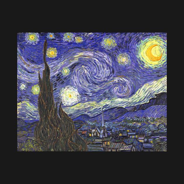 TeePublic: Starry Night by Vincent van Gogh