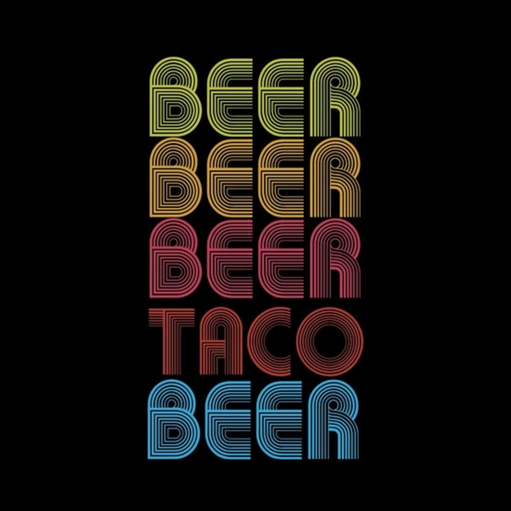 BustedTees: Beer Taco T-Shirt