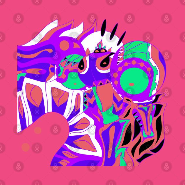 TeePublic: kitsch pink minimal robot ecopop