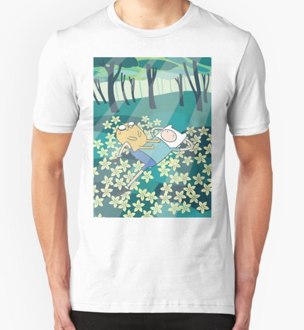 RedBubble: field of flowers ADVENTURE TIME