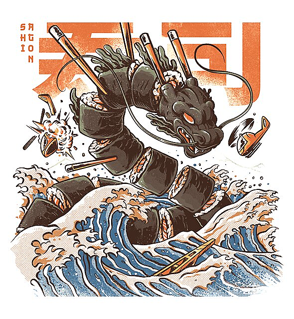 RedBubble: Great Sushi Dragon