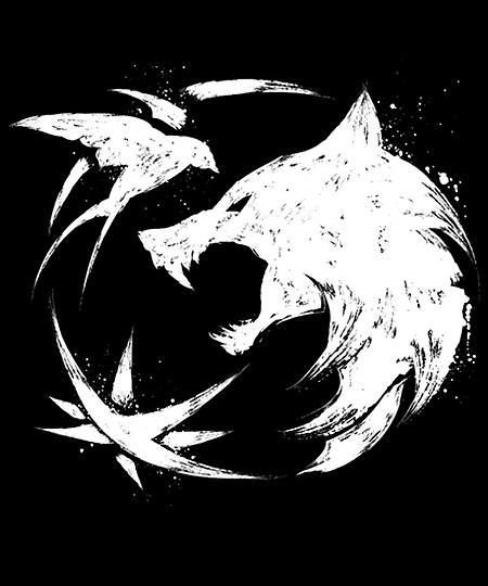 Qwertee: Wolf Star Swallow