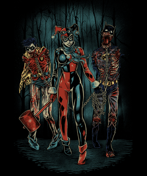 Qwertee: The Walking Caped Crusaders