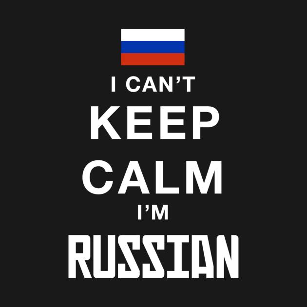 TeePublic: I can't keep calm I'm russian