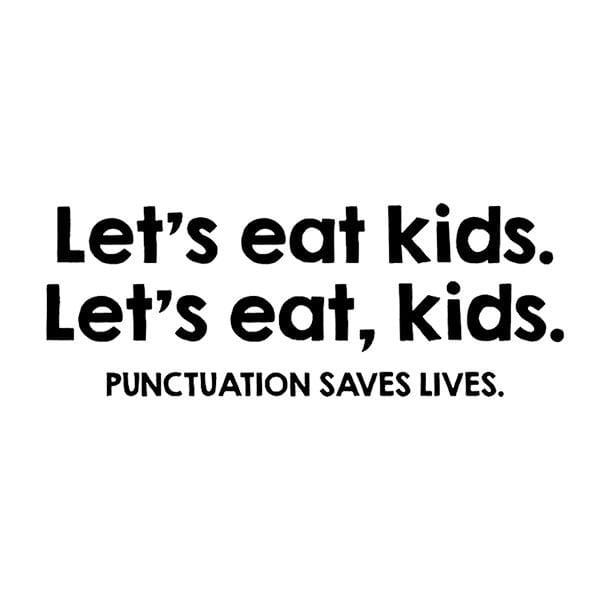 BustedTees: Punctuation Saves Lives Mug
