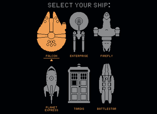 SnorgTees: Select Your Ship