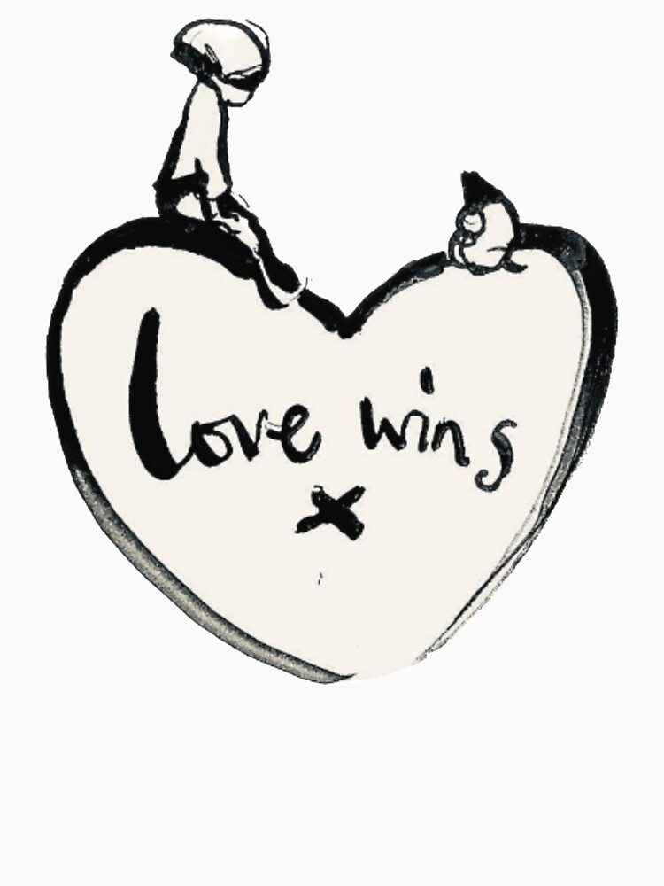 RedBubble: Charlie Mackesy Love Wins