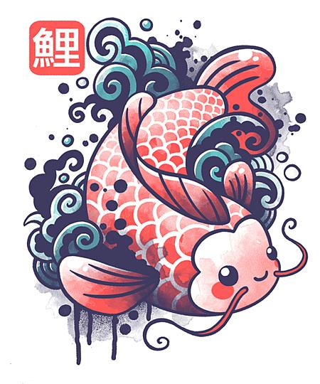 Qwertee: koi carp fish