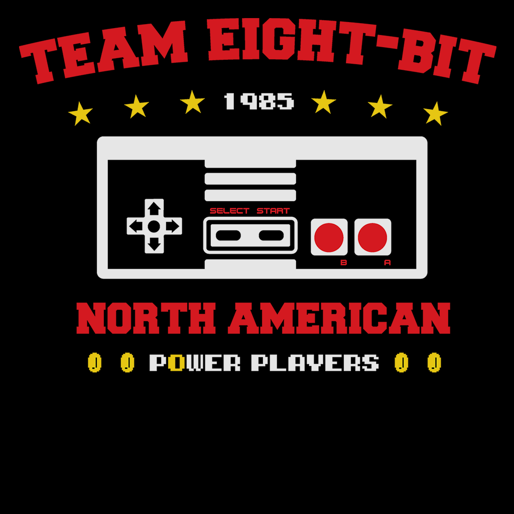 Pop-Up Tee: Team 8 Bit Power Players