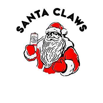 BustedTees: Funny Santa Claws Claus Drinking Christmas Gift