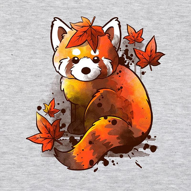Pampling: Red Panda Red Leaves