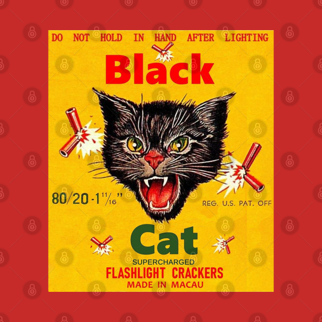 TeePublic: vintage black cat flashlight crackers
