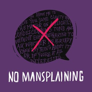 TeePublic: No Mansplaining