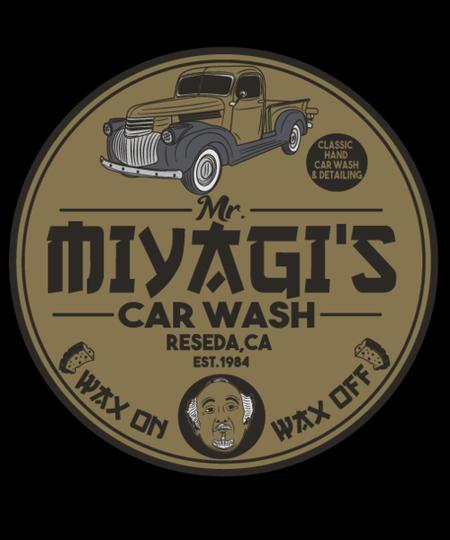 Qwertee: Mr Miyagi car wash