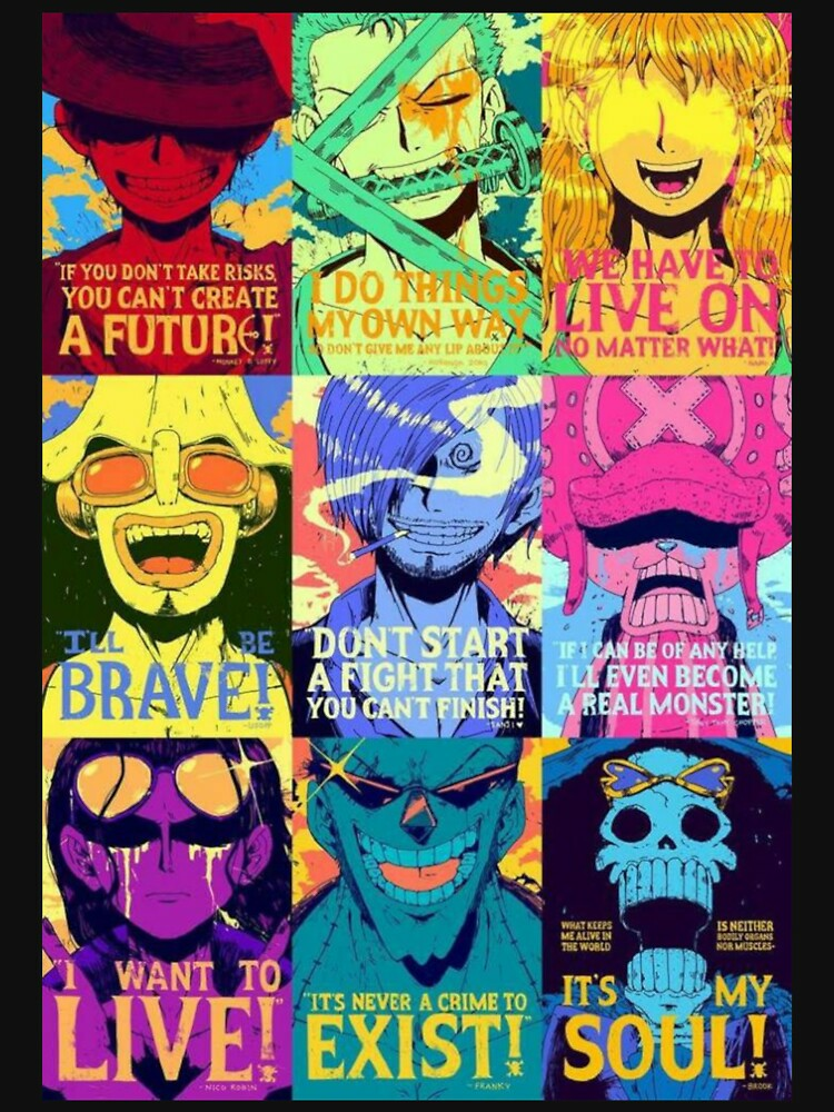 RedBubble: Straw Hat Pirates Quotes