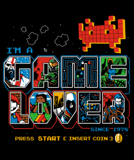 Qwertee: Video Game Lover