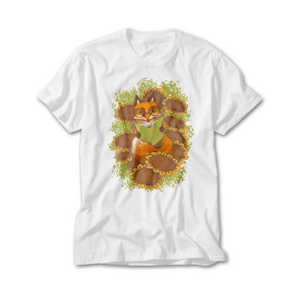 OtherTees: Sunflower Fox