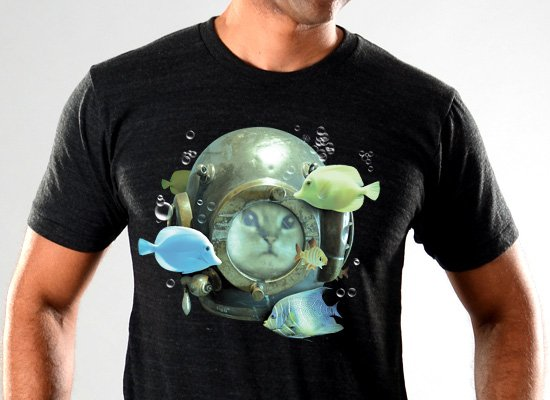 SnorgTees: 20,000 Purrrs Under The Sea Limited Edition Tri-Blend