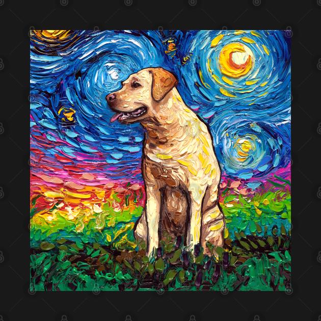 TeePublic: Yellow Labrador Night 2