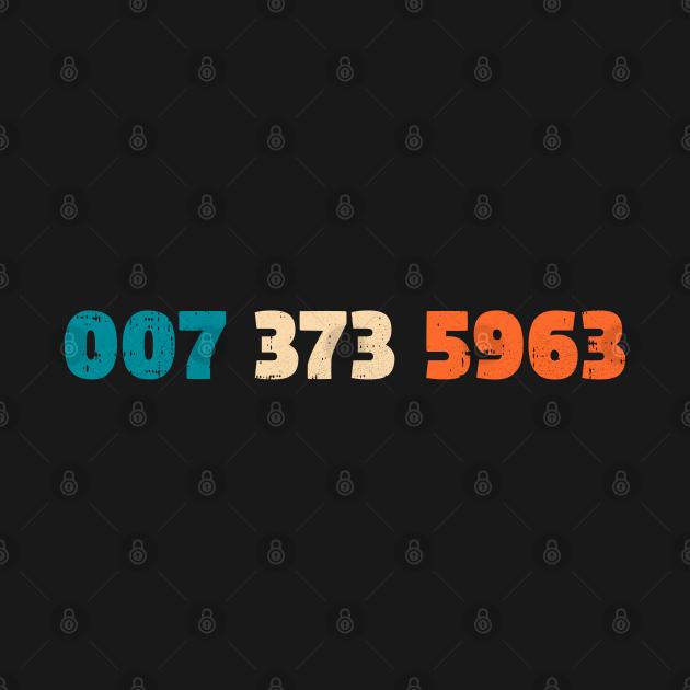 TeePublic: 007 373 5963 Retro Video Game Code Vintage