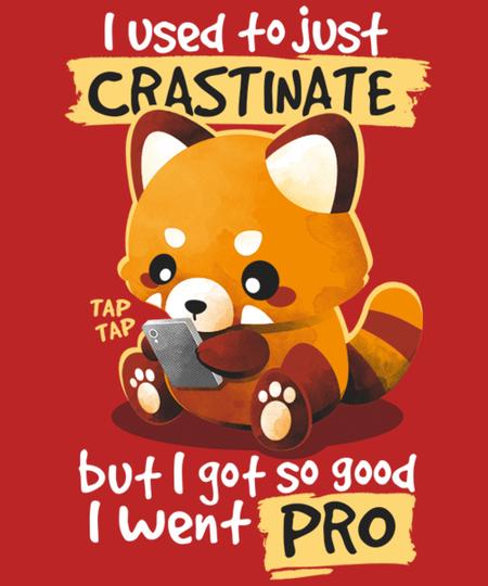 Qwertee: Red panda procrastinator