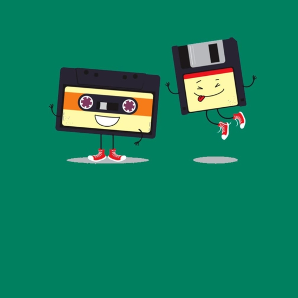 BustedTees: Floppy And Cassette Tape