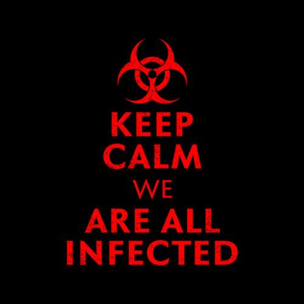 Five Finger Tees: Keep Calm We Are All Infected T-Shirt