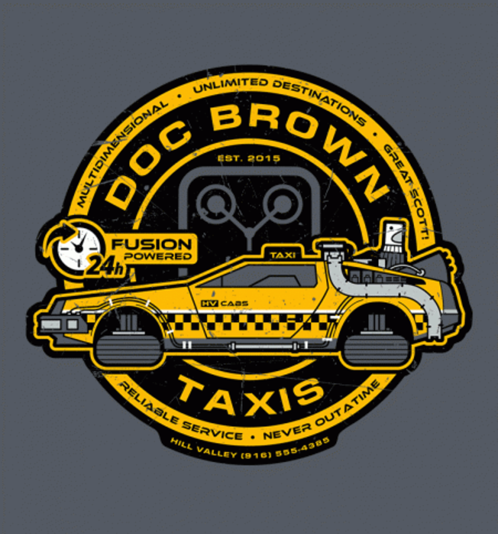 BustedTees: Doc Brown Taxis