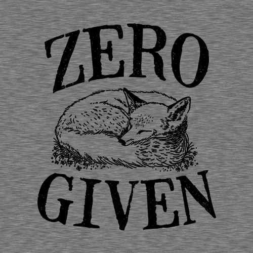 Five Finger Tees: Zero Fox Given T-Shirt