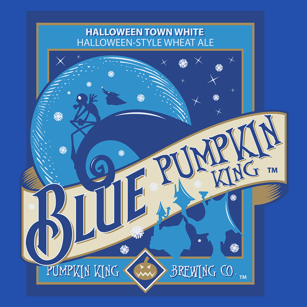 Pop-Up Tee: Blue Pumpkin King