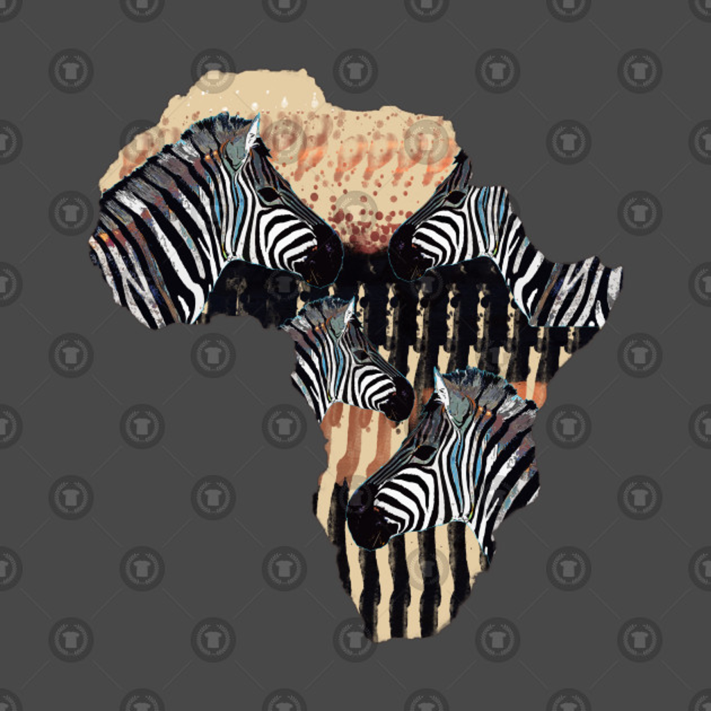 TeePublic: Africa with zebras