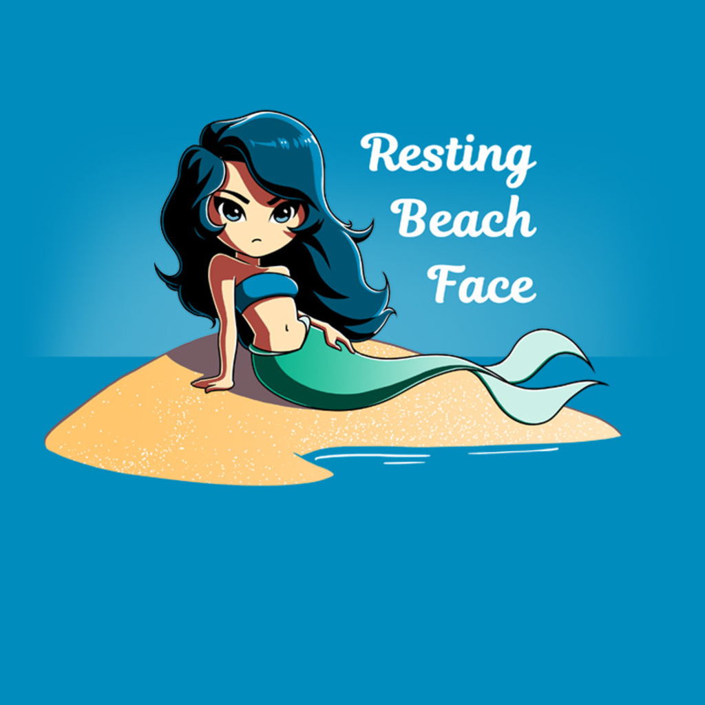 TeeTurtle: Resting Beach Face