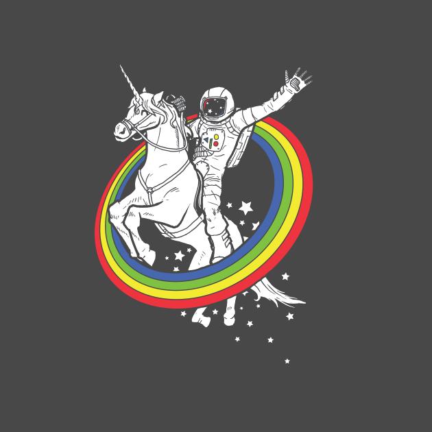 TeePublic: astronaut riding a unicorn