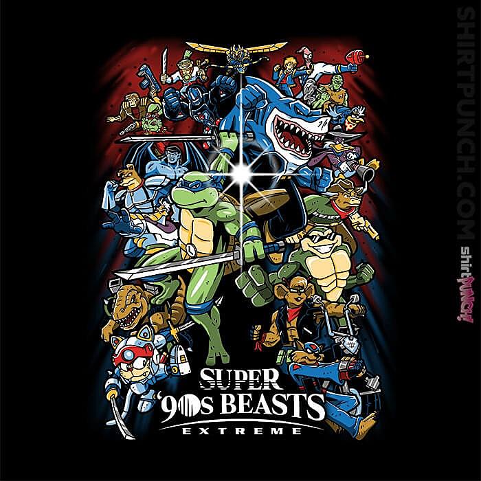 ShirtPunch: Super '90s Beasts