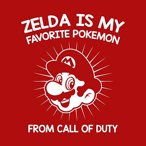 Five Finger Tees: Zelda Is My Favorite Pokemon T-Shirt