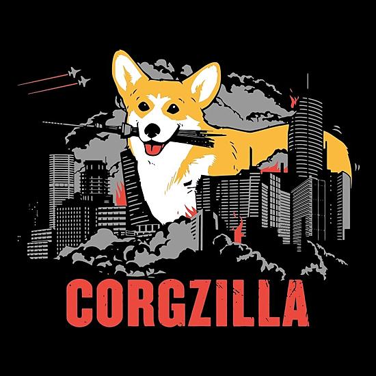 BustedTees: Corgzilla