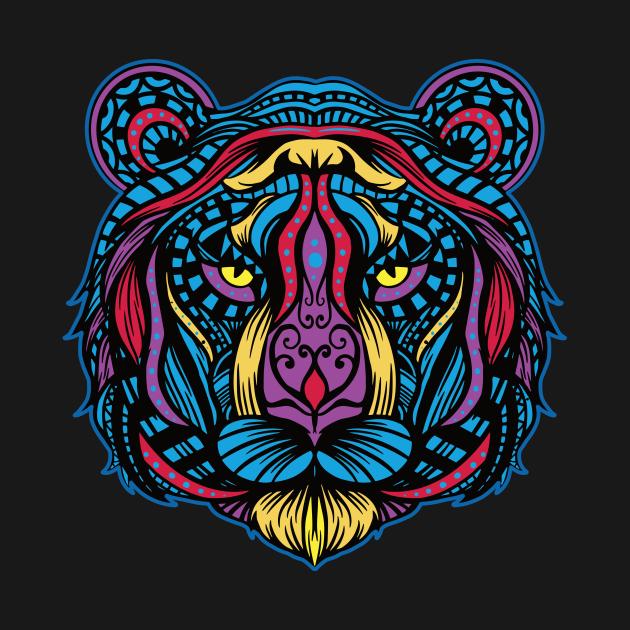 TeePublic: Colorful Tiger Mandala