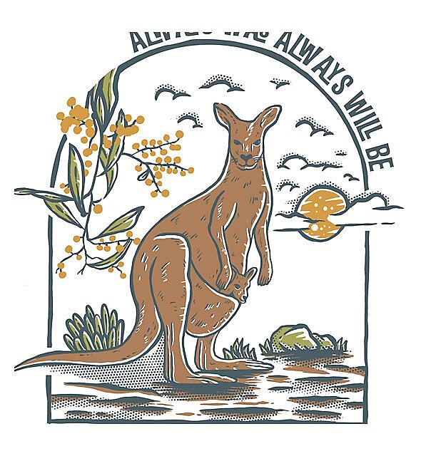 RedBubble: Vintage style kangaroo  always was always will be