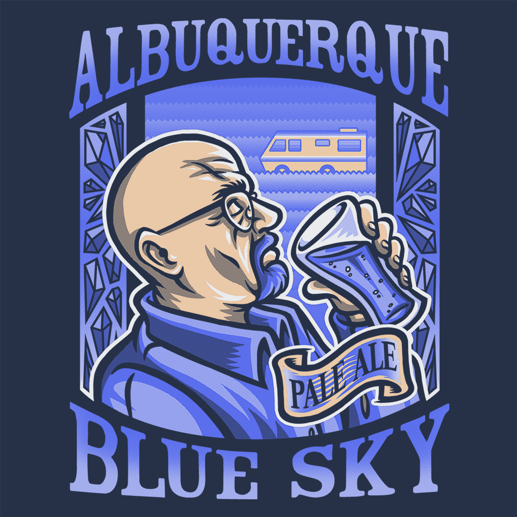 Pop-Up Tee: Albuquerque Blue