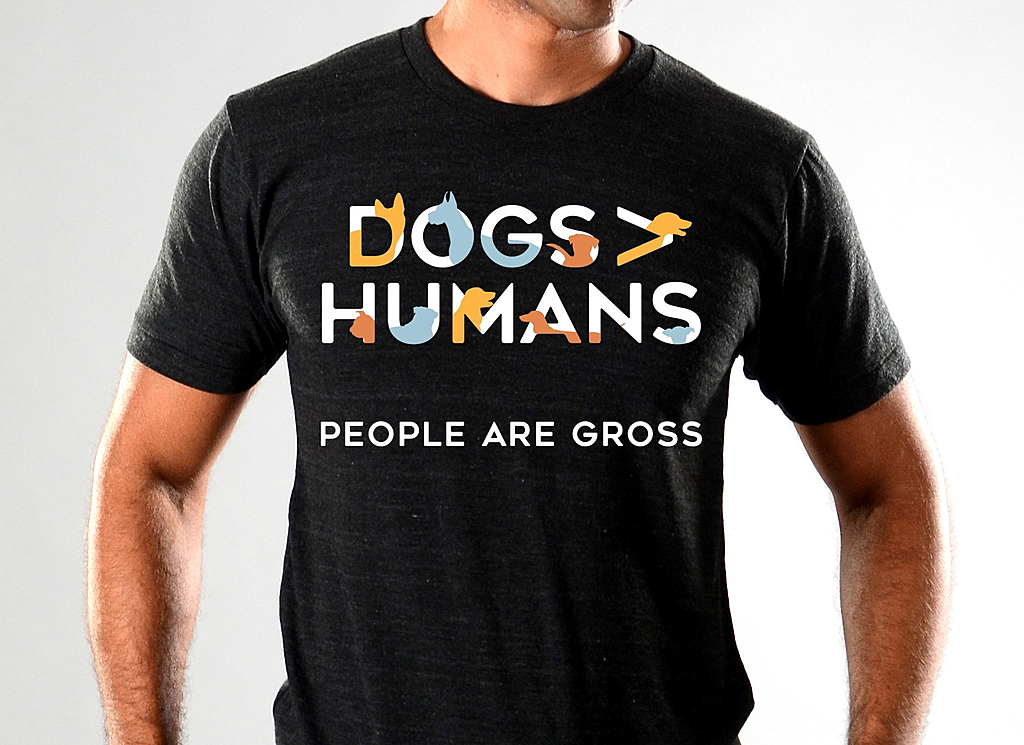SnorgTees: Dogs>People Limited Edition Tri-Blend