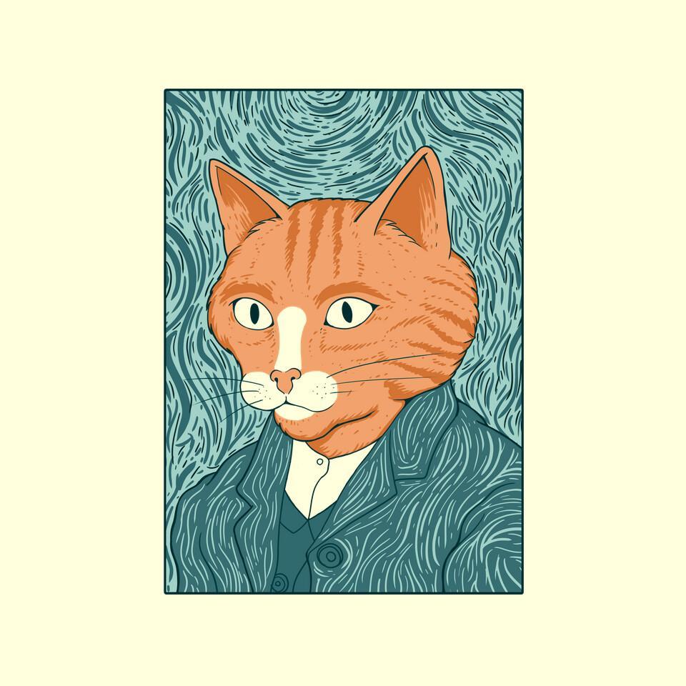 TeeFury: Cat Gogh