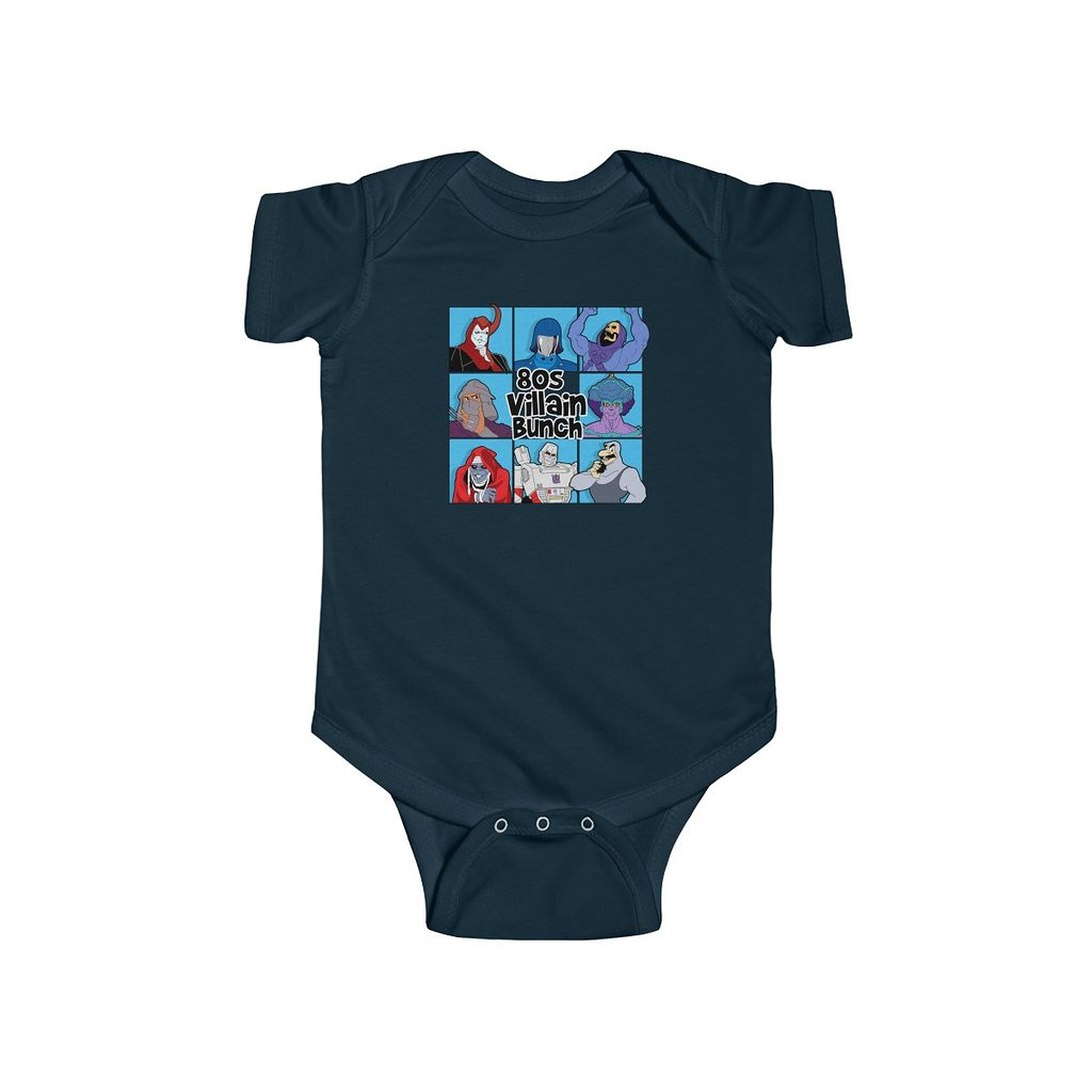 Snappy Kid: 80's Villain Bunch Baby Onesie