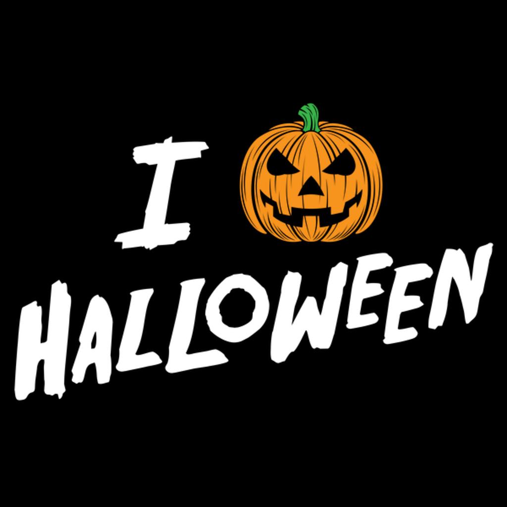 NeatoShop: I Love Halloween Jack O' Lantern