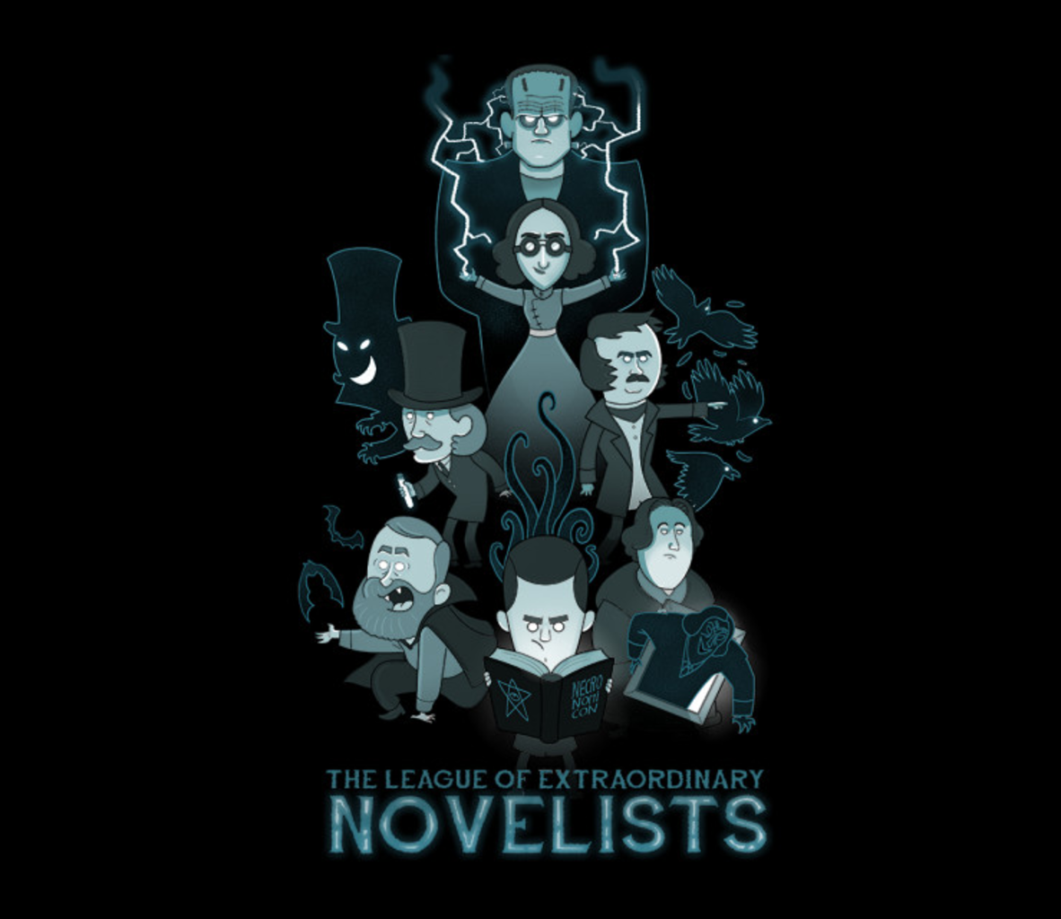 TeeFury: Extraordinary Novelists