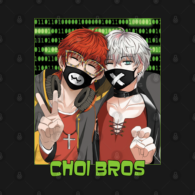 TeePublic: Mystic Messenger 707 and Unknown Choi Bros