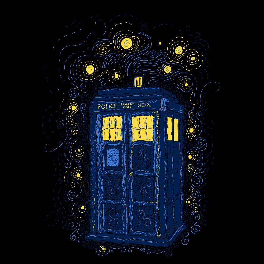 Blue Box Tees: Space Time Impressionism